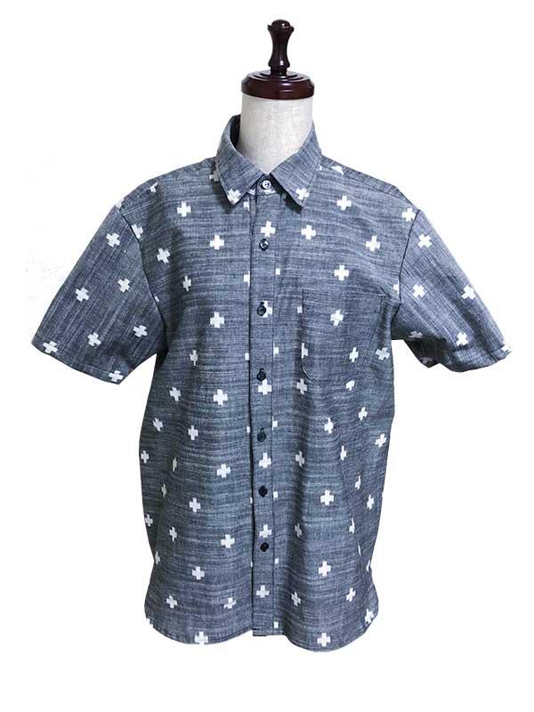久留米絣 アロハシャツ 下川織物
